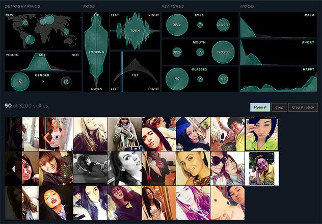 Selfiexploratory: visualizador de dados interativo (Reprodução)