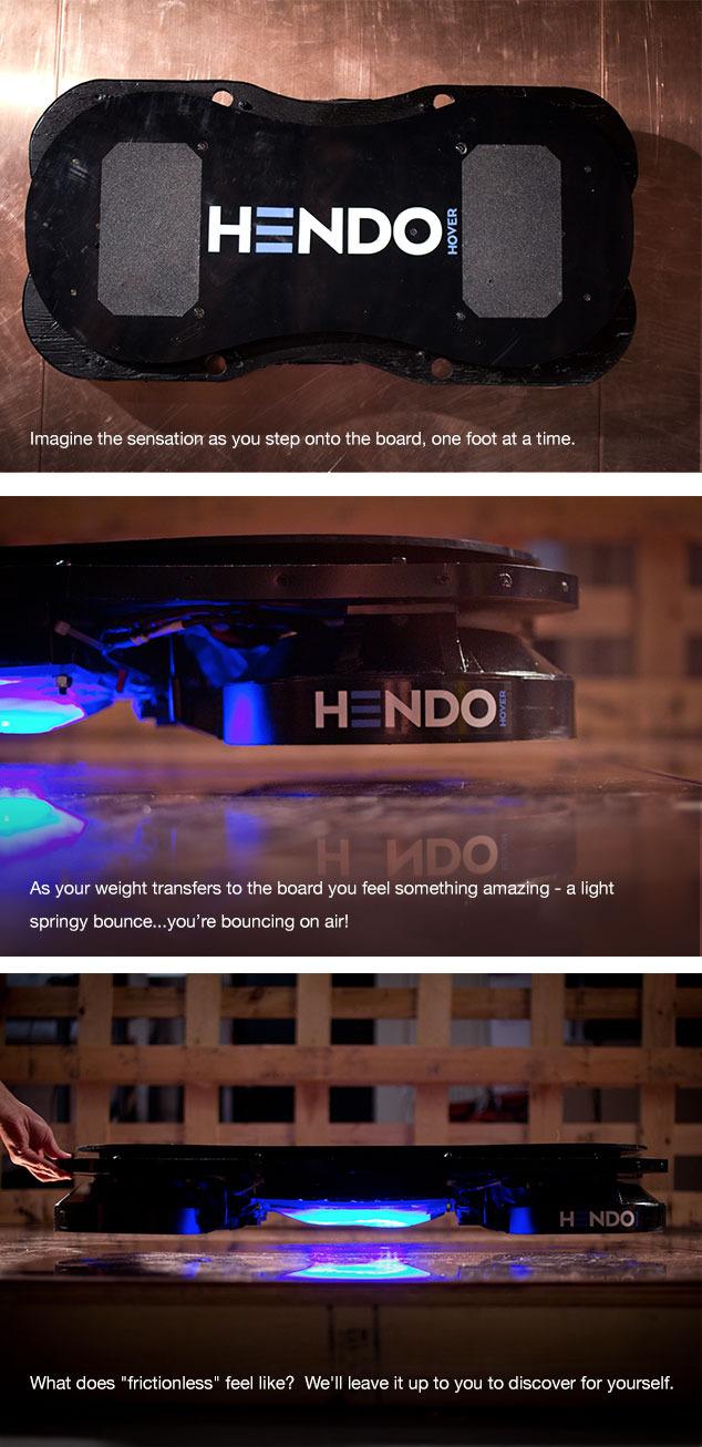 Descrição do Hendo Hover no site Kickstarter (Reprodução)