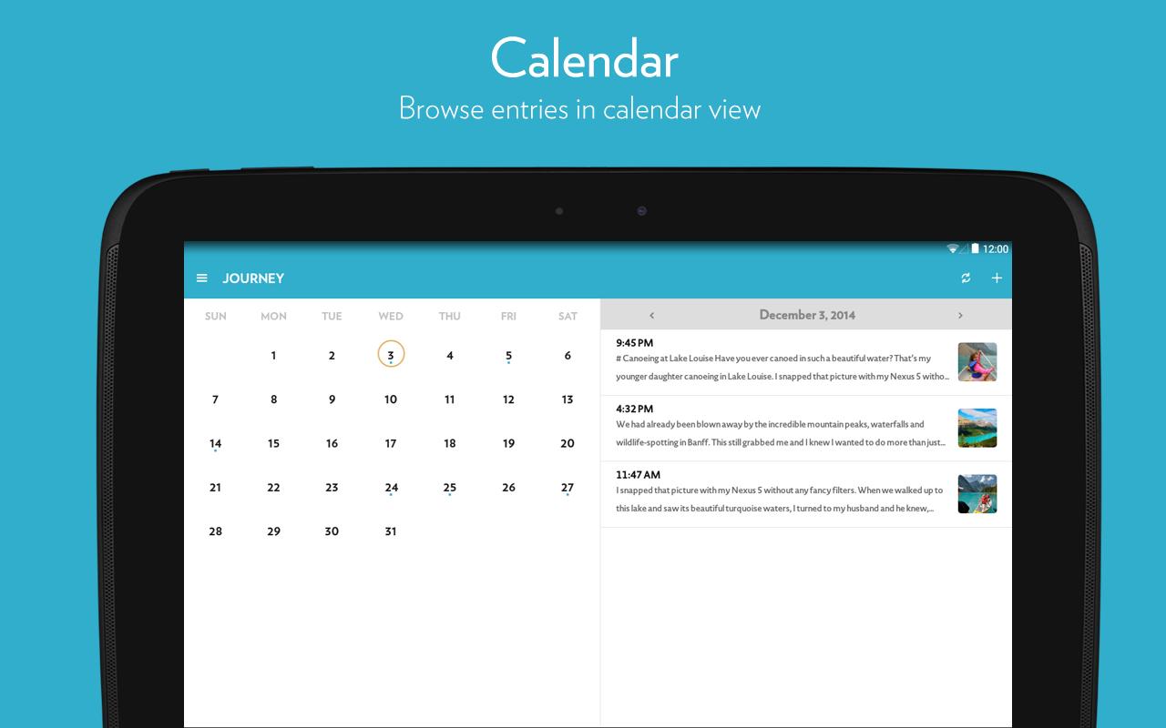 calendar journey app diario