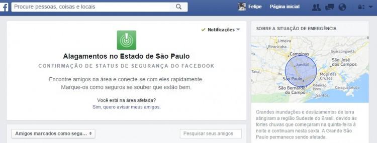 Ferramenta Safety Check, do Facebook
